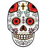 Sugar skull isolated on white Royalty Free Stock Images