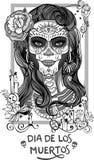 Sugar Skull Lady Imágenes de archivo libres de regalías
