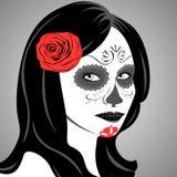 Sugar Skull Lady Imagem de Stock