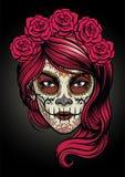 Sugar skull lady Stock Photo