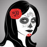 Sugar Skull Lady. Vector of Sugar Skull Lady with face paint for Day of the Dead (Dia de los Muertos Stock Image
