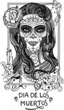 Sugar skull lady Royalty Free Stock Images