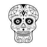 Sugar Skull Line Art Stock Afbeelding
