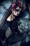Sugar skull makeup Royalty Free Stock Images