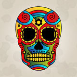 Sugar skull mexico, day of dead - Vector Illustrat Royalty Free Stock Image