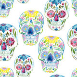 Sugar skull painting Stock Image