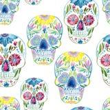 Sugar skull painting Stock Image
