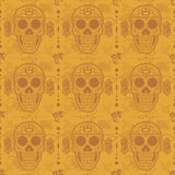 Sugar skull seamless floral pattern Royalty Free Stock Photos