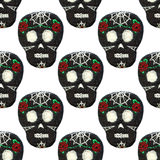 Sugar skull. Seamless pattern with Day of the Dead symbol. Stock Photography