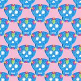 Sugar skull. Seamless pattern with Day of the Dead Royalty Free Stock Image