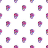 Sugar skull. Seamless pattern with Day of the Dead Stock Photos