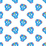 Sugar skull. Seamless pattern with Day of the Dead Royalty Free Stock Photos