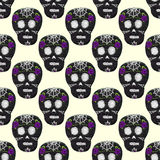Sugar skull. Seamless pattern with Day of the Dead symbol. Royalty Free Stock Photography