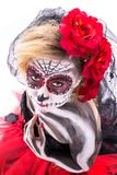 Sugar Skull sensual imagem de stock royalty free