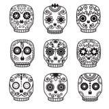 Sugar skull  set. Day of the dead  design. Stock Images