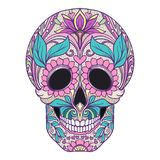 Sugar skull. The traditional symbol of the Day of the Dead. Stoc Royalty Free Stock Photography