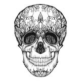 Sugar skull. The traditional symbol of the Day of the Dead. Stock Image