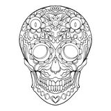 Sugar skull. The traditional symbol of the Day of the Dead. Stock Images