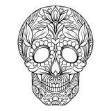 Sugar skull. The traditional symbol of the Day of the Dead. Royalty Free Stock Images