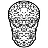 Sugar skull vector eps Hand drawn, Vector, Eps, Logo, Icon, silhouette Illustration by crafteroks for different uses. Visit my web royalty free illustration