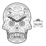 Sugar Skull Vector Illustration Fotografía de archivo