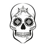 Sugar Skull. Vector Sugar skull isolated on white background Royalty Free Stock Photo