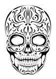 Sugar skull. On a white background Royalty Free Stock Photography