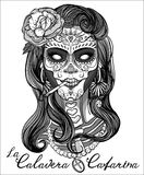 Sugar skull woman Stock Image