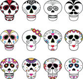 Sugar Skulls / Candy Skulls / Day of the Dead Skulls. Royalty Free Stock Image