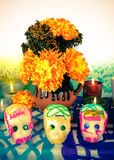 Sugar skulls on day of the dead (Dia de Muertos) Royalty Free Stock Photo
