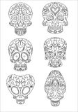 Sugar skulls. Day of the dead, vector illustration Royalty Free Stock Photography