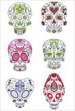Sugar skulls. Day of the dead, vector illustration Royalty Free Stock Image