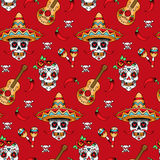 Sugar skulls pattern Royalty Free Stock Photos