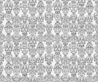 Sugar skulls seamless pattern. Sugar skulls decorative seamless pattern, vector illustration Stock Image