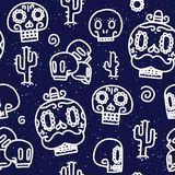 Sugar skulls seamless vector pattern Stock Photography