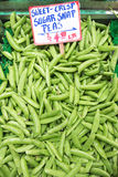 Sugar snap peas for sale Royalty Free Stock Photography