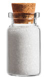 Sugar spice in a little bottle isolated on white Stock Image