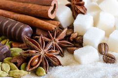 Sugar and spices Stock Images