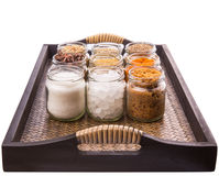 Sugar and Spices In Wicker Tray III Royalty Free Stock Photography