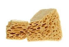 Sugar sponge. Yellow sugar sponge Stock Photo