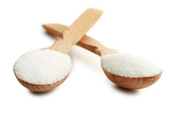 Sugar in spoons Royalty Free Stock Photography