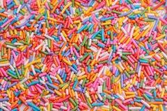 Sugar sprinkle background ,decoration for cake and bake. Colorful sugar sprinkle background ,decoration for cake and bakery royalty free stock photography