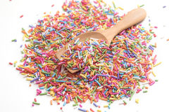 Sugar sprinkle. Decoration for cake and bakery Stock Photography