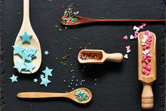 Sugar sprinkle dots Royalty Free Stock Image