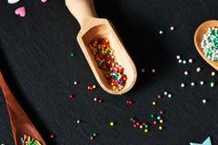 Sugar sprinkle dots Royalty Free Stock Photo