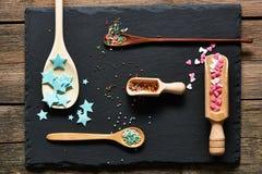 Sugar sprinkle dots Stock Images