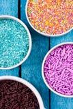 Sugar sprinkles Stock Images