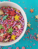 Sugar sprinkles Stock Images