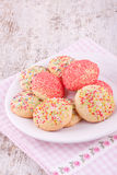 Sugar sprinkles cookies Stock Photography
