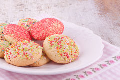 Sugar sprinkles cookies Stock Photo